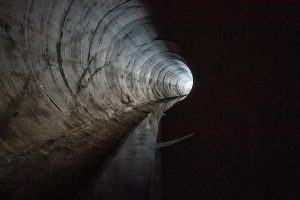Interior image of a tunnel